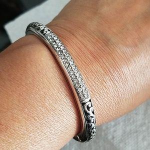 Brighton cz scroll bracelet